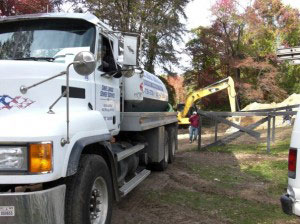 Residential cesspool installation Long Island